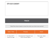 Track status no update, haven't received after 4days