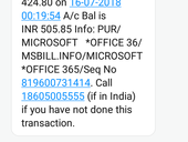 Unauthorised transaction of money