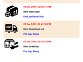 Poslaju didn't update my tracking item